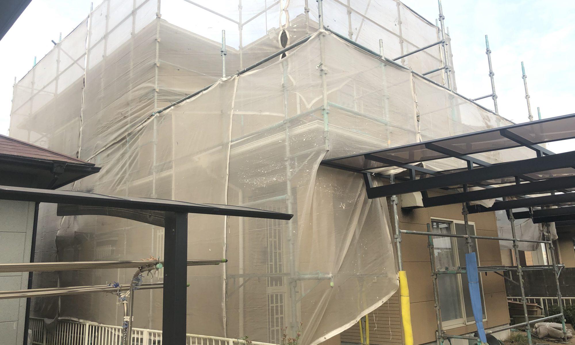 2019.11.27(水)瀬戸内市K様邸 屋根塗装外壁塗装 工事着工