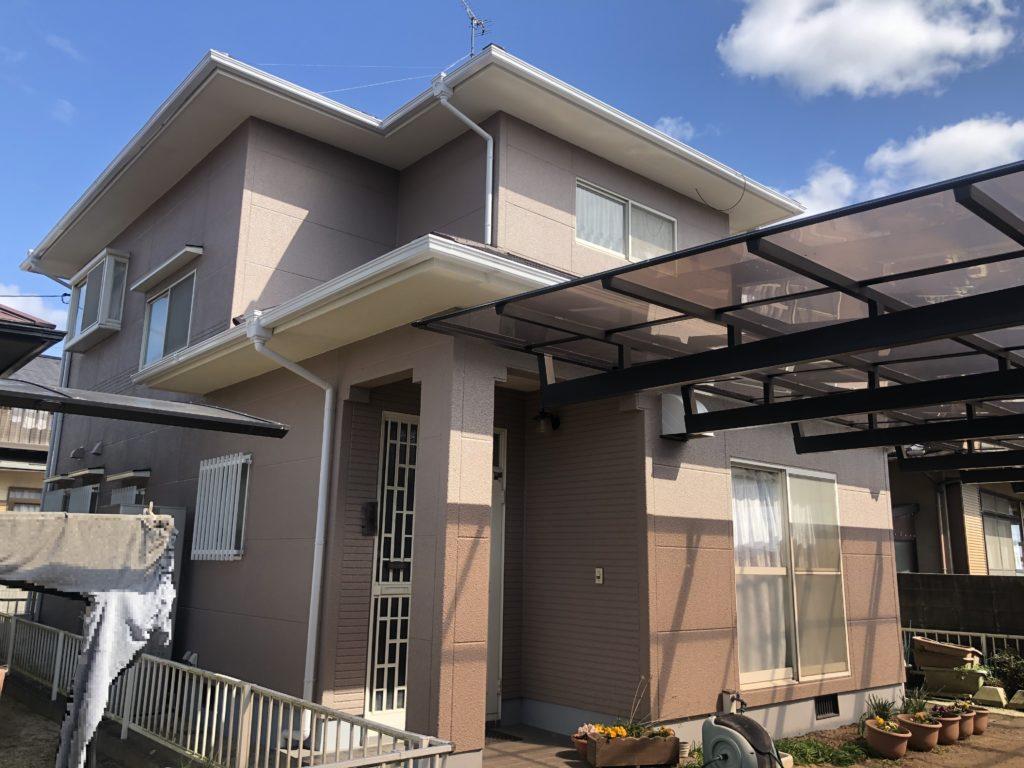 瀬戸内市K様邸 屋根塗装 外壁塗装施工完了
