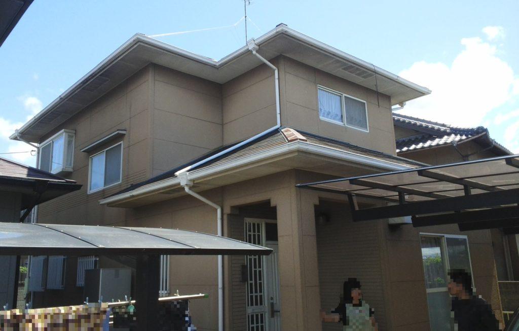 瀬戸内市K様邸 屋根塗装 外壁塗装施工前