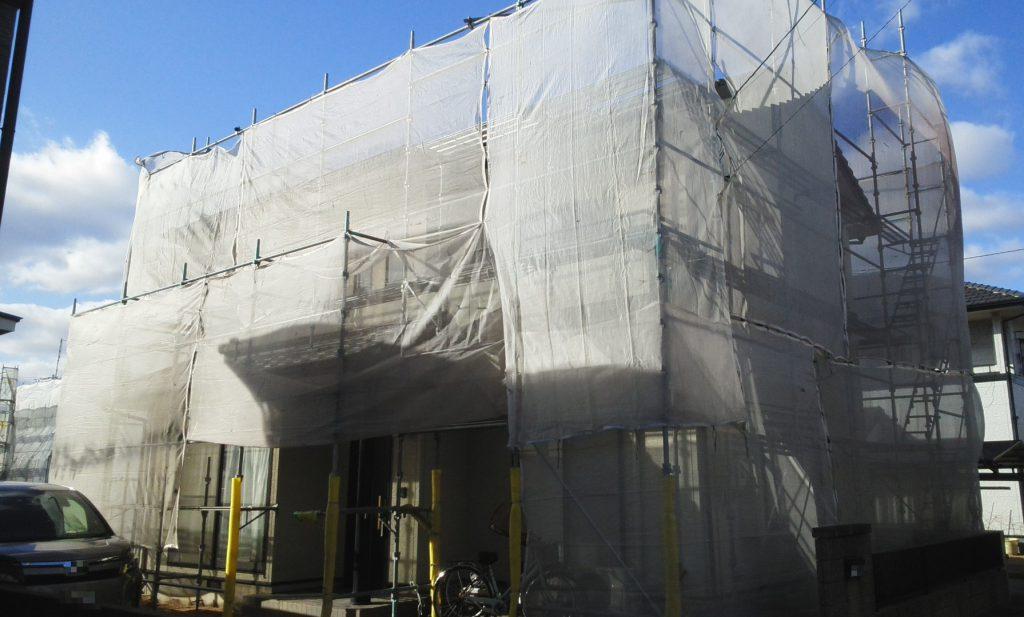 2020.1.30(木)倉敷市N様邸 屋根外壁塗装工事着工