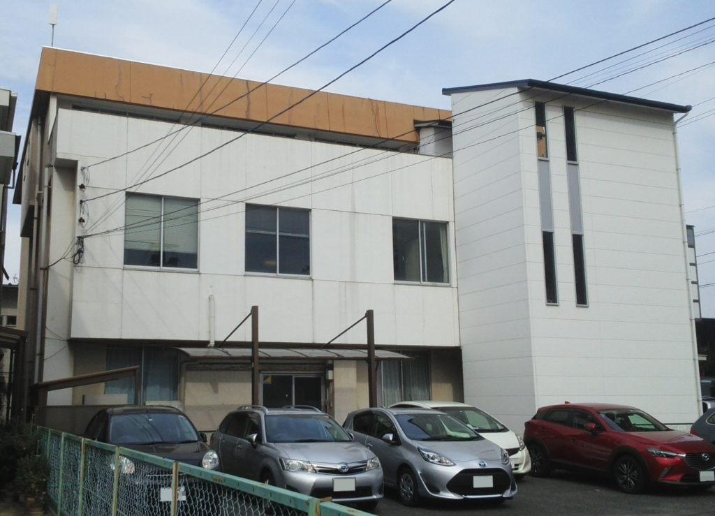 岡山市北区某ビル 屋根外壁塗装 施工前