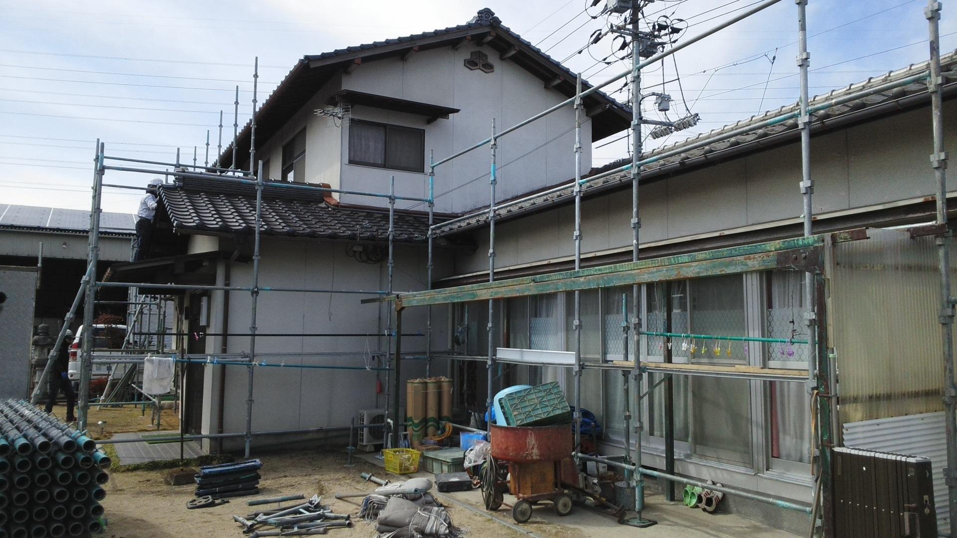 2020.3.9(月)倉敷市O様邸 外壁塗り替え工事着工