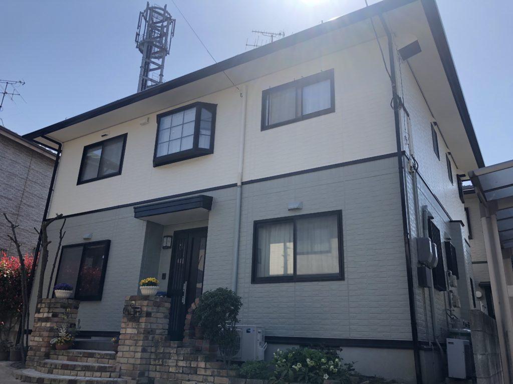 岡山市北区I様邸 屋根塗装 外壁塗装 施工完了後1