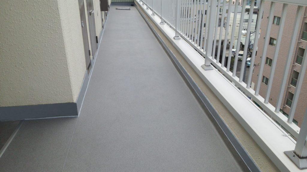 岡山市北区某マンション 廊下改修工事 施工完了後