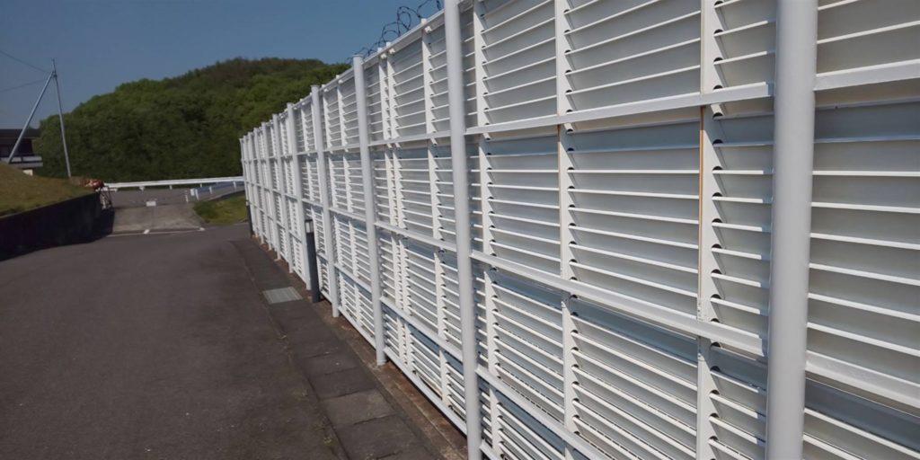 岡山市東区某企業様 フェンス塗装 施工完了後