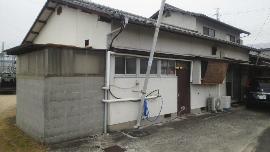 倉敷市O様邸 屋根葺き替え工事 外壁塗装工事施工前