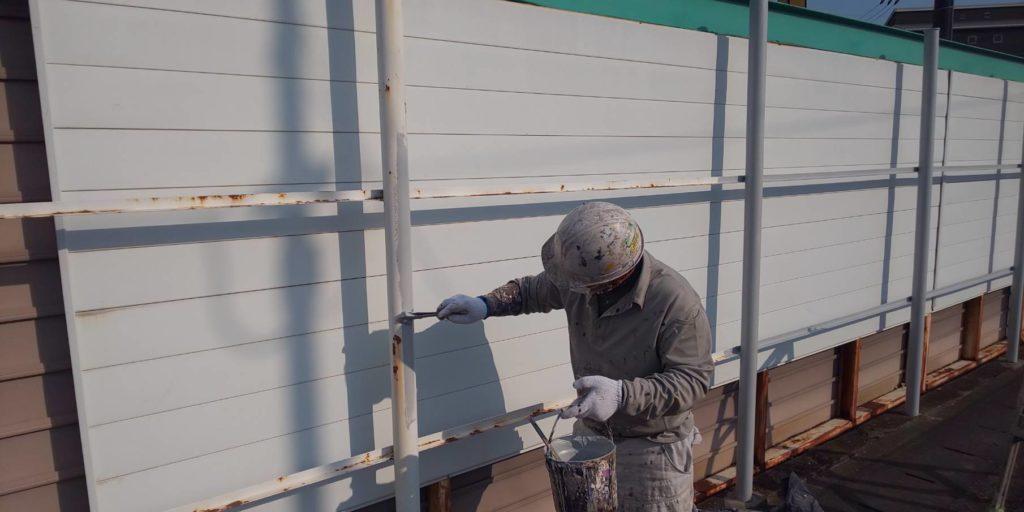 岡山市東区某企業様 フェンス塗装 施工前
