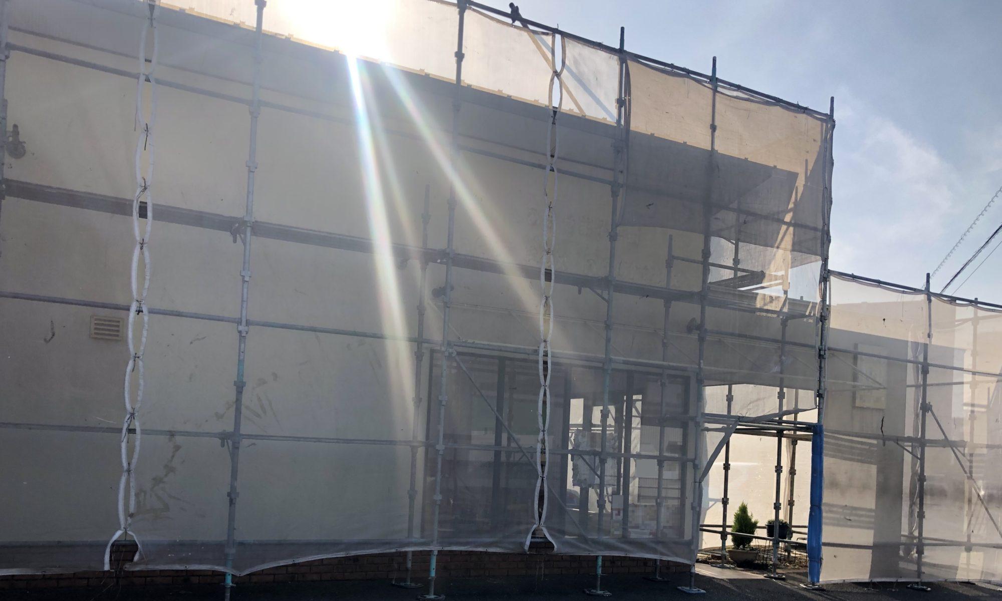 2020.04.01(水)岡山市北区某店舗様 内部塗装外部塗装工事着工