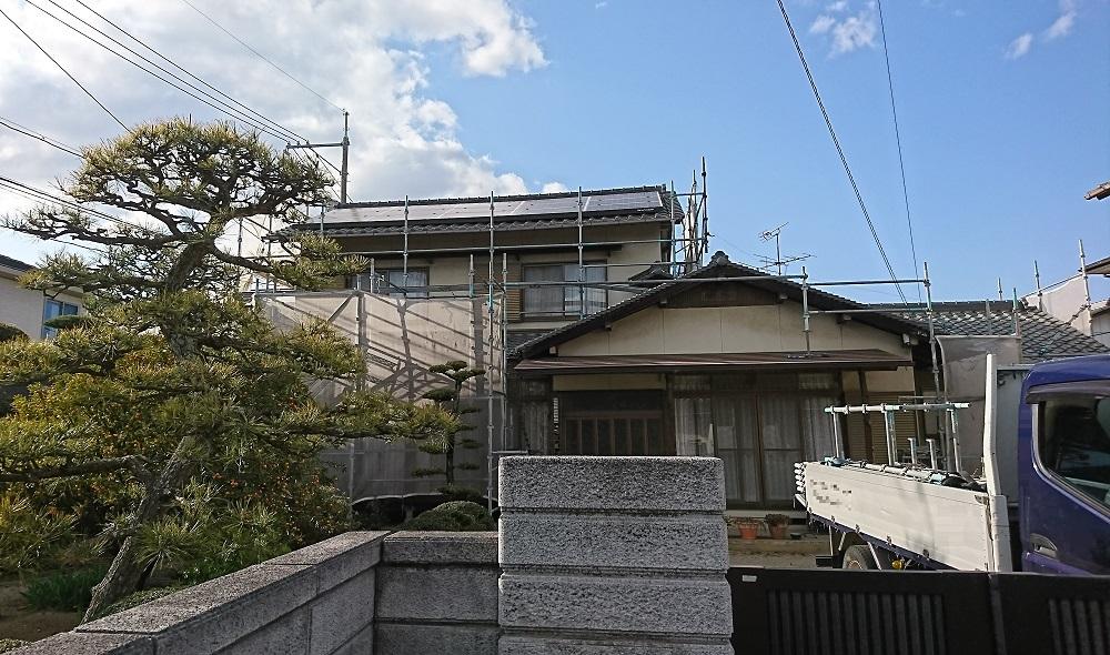 2020.4.10(金)岡山市南区N様邸 外壁塗装 工事着工