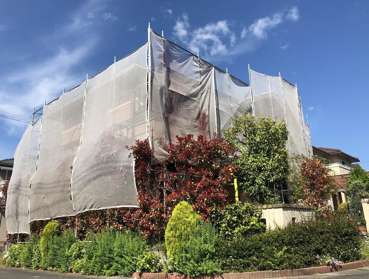 2020.05.02(木)赤磐市O様邸 外壁塗装 工事着工