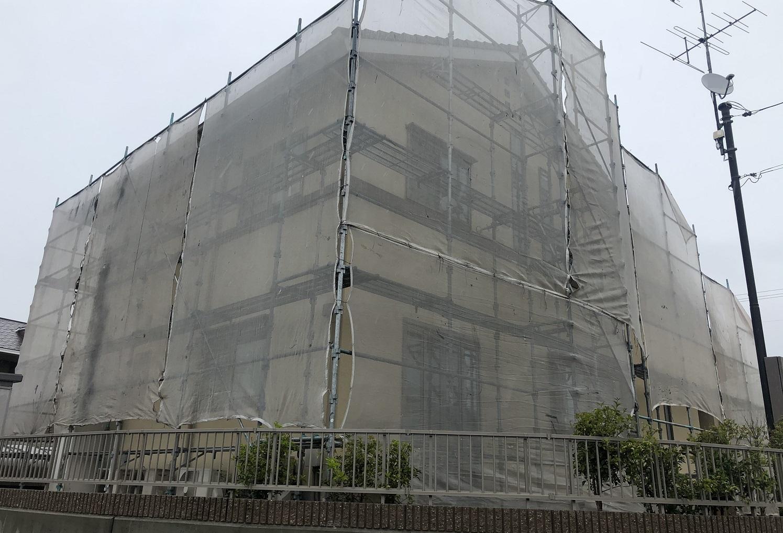 2020.05.18(月)赤磐市M様邸 外壁塗装 工事着工