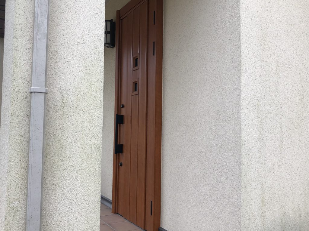 赤磐市M様邸 外壁塗装 施工前 外壁アップ